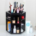 <b>Fashion</b> Makeup Cosmetic Storage Box 360-degree Rotating Makeup Organizer Box Brush Holder <b>Jewelry</b> Organizer Case <b>Jewelry</b>