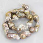 1 Strand Natural Gold Pearl Beads Strands 15-25MM <b>Wedding</b> Edison Pearl Beads AAA Baroque Pearls DIY <b>Jewelry</b> Material PJW158