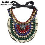 7 Colors Latest Luxury Handmade Crystal Necklace Women Indian Collar Chokers Statement Necklaces Evening Dress <b>Wedding</b> <b>Jewelry</b>