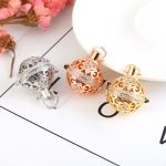 High Grade Essential Oil Diffuser Silver Gold Color Cu Locket Pendant For <b>Making</b> <b>Jewelry</b> DIY Accessories
