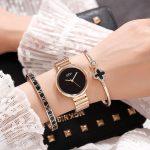 2018 GEDI Fashion Rose Gold <b>Silver</b> Women Watches Top Luxury Brand Ladies Quartz Watch 3 Pieces Watch Relogio Feminino Hodinky