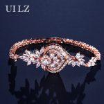 UILZ Newest Luxury Roman Chain Bracelet For Women Ladies AAA Cubic ZirconInlay Charm Bracelet Bride <b>Wedding</b> <b>Jewelry</b> UB2040