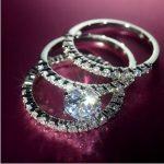 Fashion <b>Jewelry</b> 3-in-1 Engagement <b>Jewelry</b> <b>Handmade</b> 5A Zircon stone 10KT White Gold Filled Wedding Band Ring Set Sz 5-11