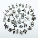 35pcs Dark Silver Mix Design Necklace Bracelet DIY <b>Jewelry</b> <b>Making</b> Trendy Pearl Cage Locket Pendant Perfume Diffuser Women Gift