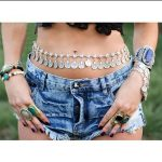 New Arrival Gypsy <b>Antique</b> Silver Plated Metal Dangle Hippie Boho Flower Turkish Bohemian Shimmy Belt Dance Body Chain Coin Belly