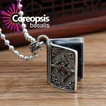 COREOPSIS Cross GA Box Can Open Necklaces Pendants S925 <b>Sterling</b> <b>Silver</b> <b>Jewelry</b> Retro Thai <b>Silver</b> Male and Female Style Pendants