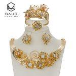 BAUS Dubai sets African fashion colors <b>jewelry</b> set women Retro floral african beads <b>jewelry</b> set arabic Gilt <b>jewelry</b> collection