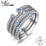 Jewelrypalace 925 Sterling <b>Silver</b> Rings Cubic Zirconia Wedding Band Engagement Ring Cocktail Rings Gemstone <b>Jewelry</b> Fashion