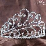 Elegant Brides Tiara w/ Hair Combs Clear Rhinestones Crystal Crown Bridal Wedding Pageant Party Silver Accessories Hair <b>Jewelry</b>