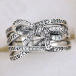 925 Sterling Silver Ring Delicate Sentiments Ring Clear CZ Women <b>Wedding</b> Gift Pave Crystals fit Lady Fine <b>Jewelry</b>