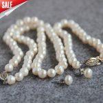 New 8-9mm White Cultured Pearl Necklace Bracelet Earrings Set Stud earrings Fashion <b>Jewelry</b> Set <b>Making</b> Design xu59