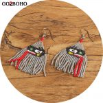Go2boho Dropshipping Tassel Earrings Red Tongue <b>Native</b> <b>American</b> Beaded Earrings Boho MIYUKI Seed Beads Handmade Women <b>Jewelry</b>
