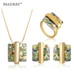 Madrry Beauty <b>Jewelry</b> Sets <b>Necklace</b> Earrings Ring Sets Simulated Opal Bijoux for Women Party Banquet Wedding Accessories Gifts