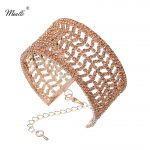 Miallo Newest Classic Rose Gold Color Women Bangles Austrian Crystal Wedding <b>Jewelry</b> <b>Accessories</b> for Bride Bridesmaids