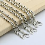 Starfield Men Women S925 <b>Sterling</b> <b>Silver</b> Sweater Chain <b>Jewelry</b> O Type Retro Thai <b>Silver</b> Chain Simple Circle Necklace