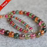 6-14mm Multicolor Tourmaline Chalcedony Beads Round Necklace Women Girls Gifts Stone 18inch DIY <b>Jewelry</b> <b>Making</b> Design Wholesale