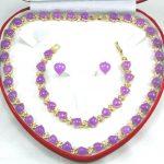 Prett Lovely Women's Wedding shipping set 0024 zircon necklace, earing, bracelet set