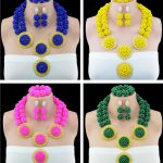 Nigerian Wedding <b>Jewelry</b> Sets Beautiful Costume <b>HandMade</b> Crytal Ball African Bride Luxury <b>Jewelry</b> Set Free Shipping