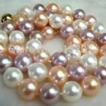 Multicolor freshwater roune natural pearl 8-9mm beads diy beautiful necklace for unique <b>jewelry</b> <b>making</b> 18 inch BV192