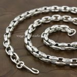 925 Sterling <b>Silver</b> Mens Biker Rocker Punk <b>Necklace</b> 8K009 Length 18 to 36 Inches Available