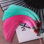 20cm Natural agate Rayon Silk Tassel Charms Chinese Knot for Earrings Charm Pendant Satin Tassels Diy <b>Jewelry</b> <b>Making</b> Findings