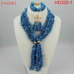2018 Stylish Red African Costume <b>Jewelry</b> Set Nigerian Wedding African Coral Beads <b>Jewelry</b> Set <b>Handmade</b> Free Shipping HD320-1