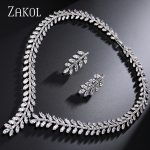 ZAKOL Exclusive! Sliver Color Princess Wedding Jewlery Set with AAA Cubic Zircon for Women High Quality Bridal <b>Jewelry</b> FSSP250