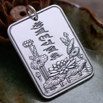 999 <b>Sterling</b> <b>Silver</b> Six Words Pendant Vintage Style Lotus Engraved Mantra Scripture Om Mani Padme Hum <b>Jewelry</b> Wholesale