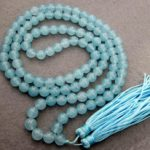 Tibetan <b>handmade</b> <b>jewelry</b> 108 Blue stone Beads Tibet Buddhist Prayer Mala Necklace silver