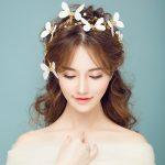 Gold Color Baroque Headbands Bridal Butterfly Crown Tiara Hair <b>Jewelry</b> Women Party Headpiece Headdress Wedding Hairwear Handmade