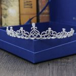 Gorgeous Stunning Vintage Clear Cubic Zircon <b>Wedding</b> Tiara CZ Bridal Queen Princess Pageant Royal Party Crown Women Hair <b>Jewelry</b>