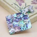 L054 Hot ! Fashion colour abalone puzzle seashells crafts plants plant flowers pendant,Fit beautiful women <b>jewelry</b> DIY <b>making</b>