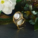 JEWELLWANG Baroque Pearl Jewelry Natural Freshwater Pearl <b>Rings</b> 925 <b>Sterling</b> <b>Silver</b> <b>Rings</b> for Women Unique Gift Anniversary <b>Ring</b>