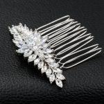 Luxury Full AAA CZ Zircomn Hair Comb Hair Women <b>Jewelry</b> For Wedding Bridal TF071