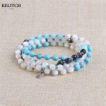 KELITCH <b>Jewelry</b> 1Pcs Natural Stone& Mother Pearl & Onyx Beaded Necklaces For Women <b>Handmade</b> Wrap Bracelet Drop Shipping