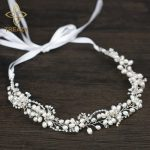 TREAZY High Quality Bridal Floral Headband Freshwater Pearl Beads Wedding Hair <b>Jewelry</b> <b>Handmade</b> Crystal Women Hair Accessories