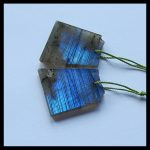 Natural Nugget Semi-precious stones, <b>Jewelry</b> accessories Labradorite Earring ,27x23x4mm,9.6g