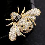 Fashion Men Cubic zircon Brooches <b>Jewelry</b> cute Yellow Bee Brooch Pins Best Men Bridal Anniversary <b>Accessory</b> Women Copper Brooch