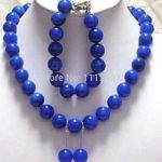 "<b>Jewelry</b> Sets 8mm Egyptian Lapis Lazuli Necklace 18"" Bangle 7.5"" Earrings Beads Stone Fashion <b>Jewelry</b> <b>Making</b> Wholesale Price"