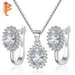 BELAWANG Classic Necklace&Earrings <b>Jewelry</b> Set for Women 925 Sterling Sillver AAA Zircon <b>Jewelry</b> <b>Making</b> Elegant Wedding Gift