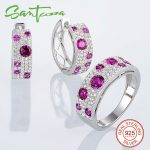 Santuzza <b>Silver</b> <b>Jewelry</b> Set for Women Natural Red Stones <b>Jewelry</b> Set Stud Earrings Ring Set 925 <b>Sterling</b> <b>Silver</b> <b>Jewelry</b> Sets
