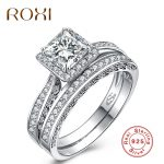 ROXI Pure 925 Sterling Sliver Rings for Women Luxury Sliver Engagement <b>Wedding</b> Ring Set Cubic Zirconia Women anillos <b>Jewelry</b>