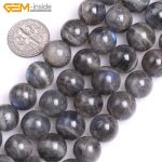 "Gem-inside 6-12mm Natural Stone Beads Round Blue Rainbow Labradorite Beads For <b>Jewelry</b> <b>Making</b> Beads 15"" DIY Beads"