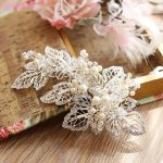 Jonnafe Generous Silver Leaf Crown <b>Wedding</b> Hair Clip Pearls <b>Jewelry</b> Bridal Comb Hair Accessories Women Prom Headpiece