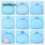 FirstQueen <b>Silver</b> 925 Jewelry <b>Bracelets</b> Bangles for Women Fit <b>Silver</b> Charm Bead Fine Jewelry Pulseiras para as mulheres