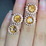 Natural citrine Ring Natural yellow crystal Ring 925Sterling <b>Silver</b> trendy trend Luxury Sunflower women's Party fine <b>Jewelry</b>