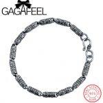 GAGAFEEL Genuine 100% Real Pure 925 Sterling <b>Silver</b> 5mm Men <b>bracelet</b> . Punk style Men jewelry .free shipping fine jewelry HYB1