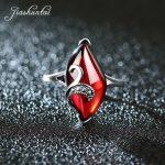 JIASHUNTAI Retro <b>Silver</b> Rings Vintage 925 Sterling <b>Silver</b> <b>Jewelry</b> For Women Red Yellow Stone