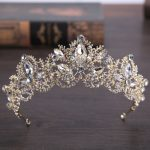 Trendy Baroque Style Gold Crystal Crown Headdress for Women Wedding Hair Accessories hairwear Bride <b>Jewelry</b>