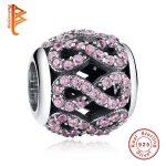 BELAWANG 100% 925 Sterling Silver Crystal Rhinestone Figure 8 Infinity Connector Charm for Women Fit DIY Bracelet <b>Jewelry</b> <b>Making</b>